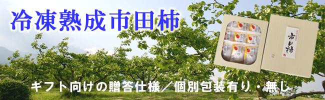 冷凍熟成市田柿ギフト向けページトップバナー