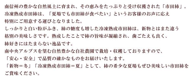 冷凍熟成市田柿テキストバナー