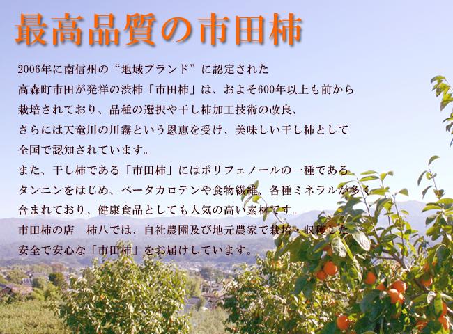 市田柿は最高品質バナー