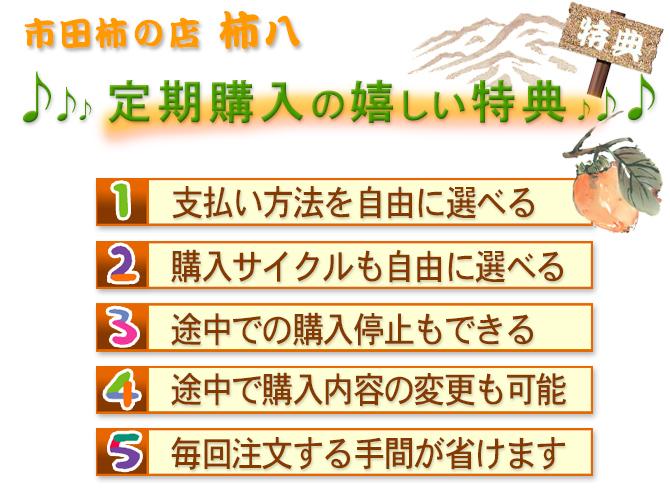 各種市田柿の定期購入特典